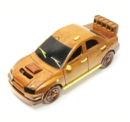 Subaru Wooden Car Scale Model - Wooden Hand Carved