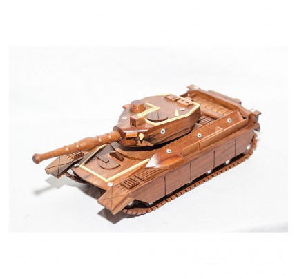 Mahogany Military Tank (Small) Wooden Military Vehicle