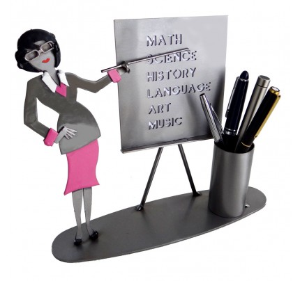 Female Teacher Pen Holder