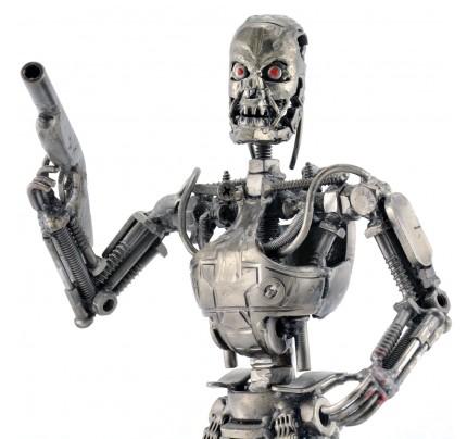 Terminator T-800 robot metal sculpture