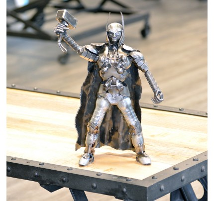 Thor Metal Sculpture - Marvel Warrior Model Recycled Metal Handmade