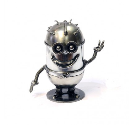 Minion Banana Model Figure (Type 3) - Scrap Metal Sculpture
