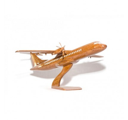 Boeing ATR 72 scale Wooden mahogany Airplane model - Handcrafted
