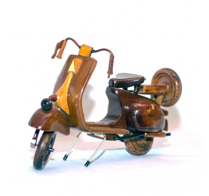 Vespa Mahogany Wood Model - Mahogany Wooden Art