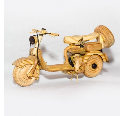 Oak Wood Vespa Scooter Model : Wood Desk Model