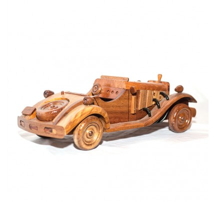 Vintager - Handcrafted Mahogany Wood Model Car