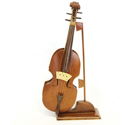 Wooden Violin Model - Mahogany Wood Design