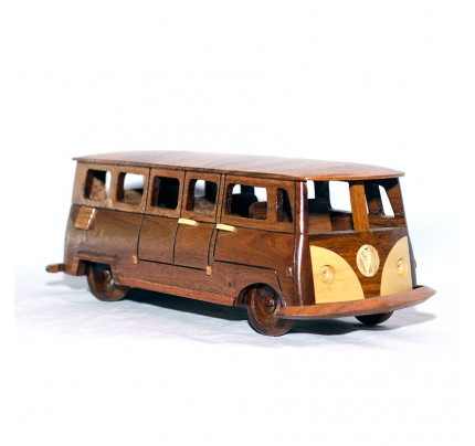 Volkswagen Bus Mahogany Wood scale model