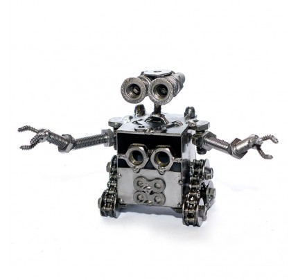 Wall E Robot Recycled Metal Sculpture Model : Handmade
