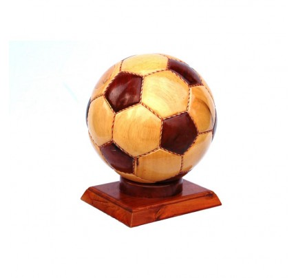 Wooden Soccer Ball Model : Handcrafted
