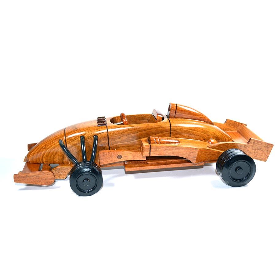 Wood Car Art : Formula wooden art race car model wood toy