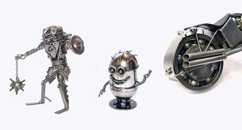 Scrap Metal Sculptures : Handcrafted Action Figures
