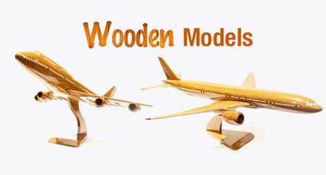Mahogany Wooden Desktop Airplane Models - Gifts For Pilots