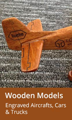 Engraved Wooden Airplane, Car models